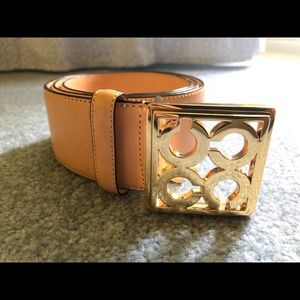 Coach leather belt in light peachy beige